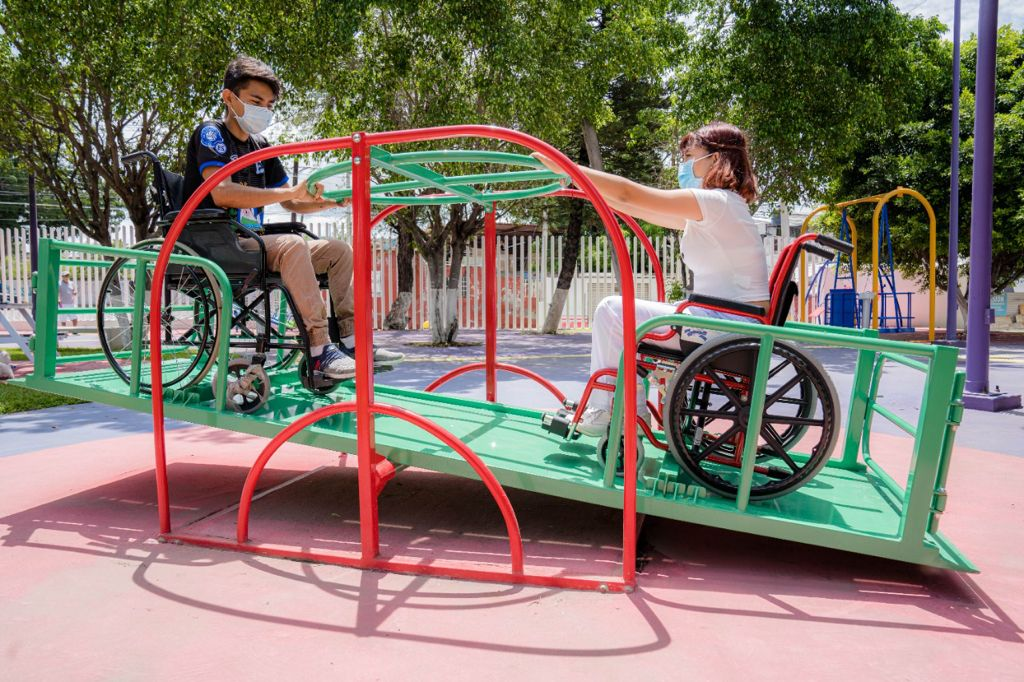 DIF Morelos inauguró un parque inclusivo en la colonia Cuauhtémoc del municipio de Jojutla