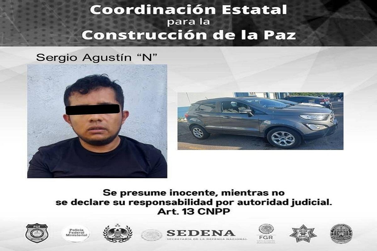 Detenido en persecución presunto robacoches en la colonia Lomas de Guadalupe de Temixco