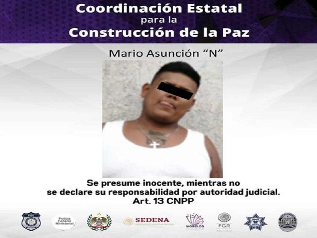 Policía Morelos / Detenido con Crystal / Temixco