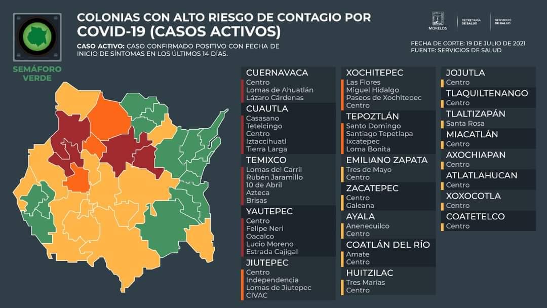 Casos Covid-19 En Morelos Hoy 19 De Julio: Número De Contagiados, Fallecidos Y Recuperados Por Coronavirus En El Estado