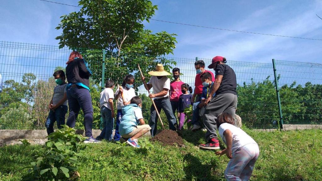 Niños plantan más de 40 arbolitos en la ribera del Río Cuautla durante curso de verano 20-21