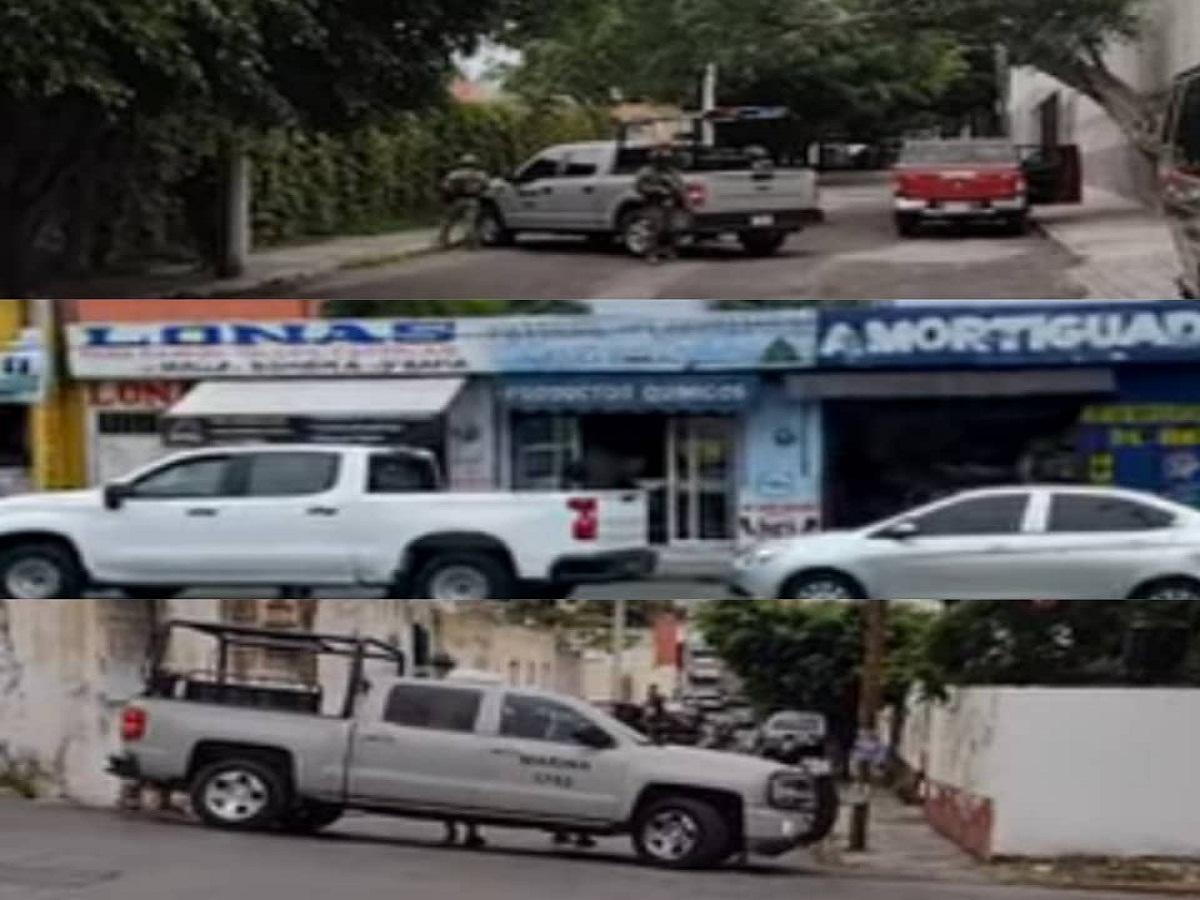 Cateos en viviendas y negocios de Temixco, Jiutepec y Cuernavaca por parte de la Secretaría de Marina Armada de México