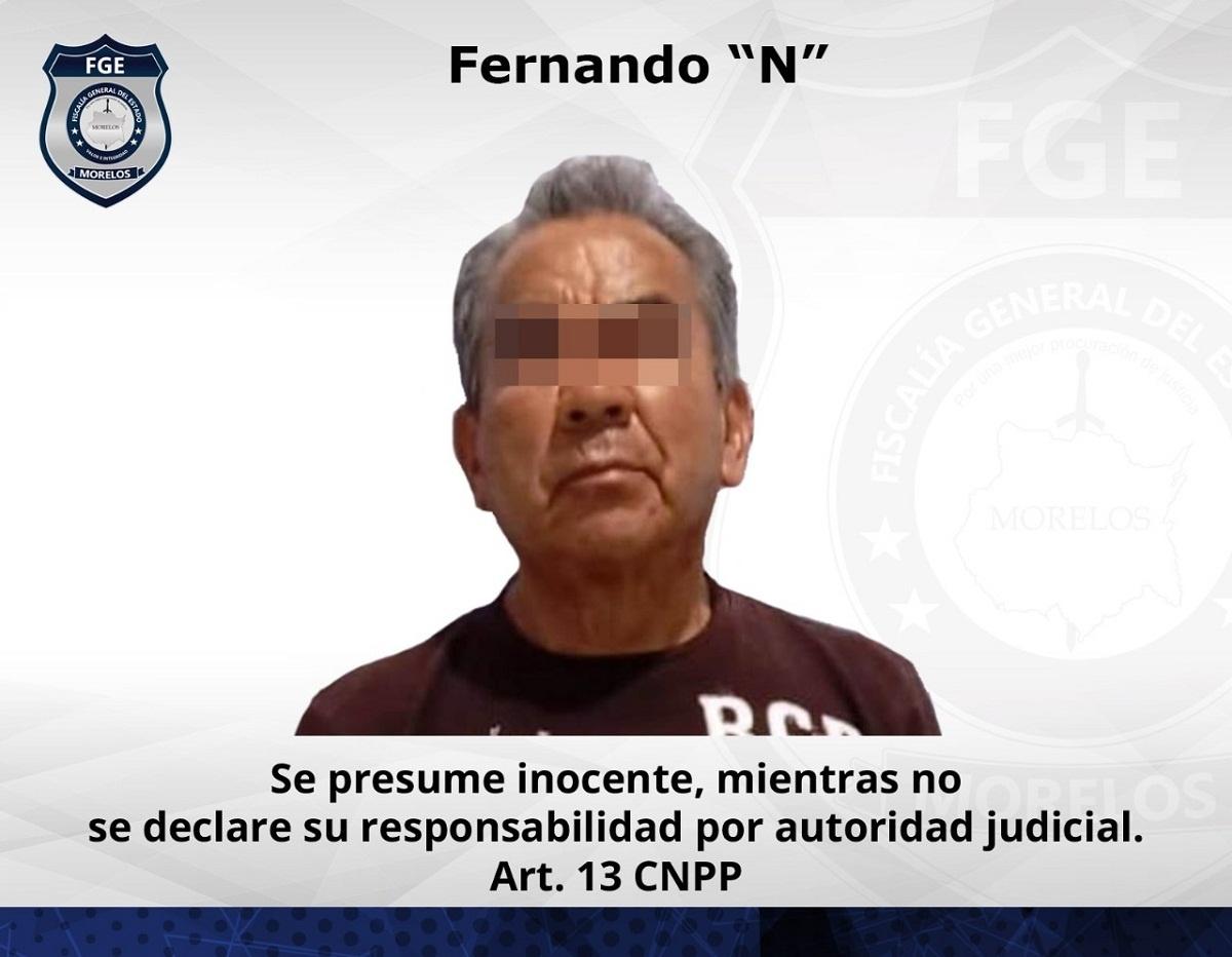 Detenido hombre de 72 años que violó a niñas de 12 y 14 años en Tlayacapan