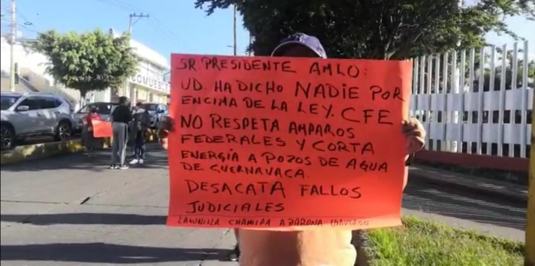 Bloqueos en varias avenidas de Cuernavaca por protestas debido a la falta de agua por el adeudo de SAPAC con la CFE