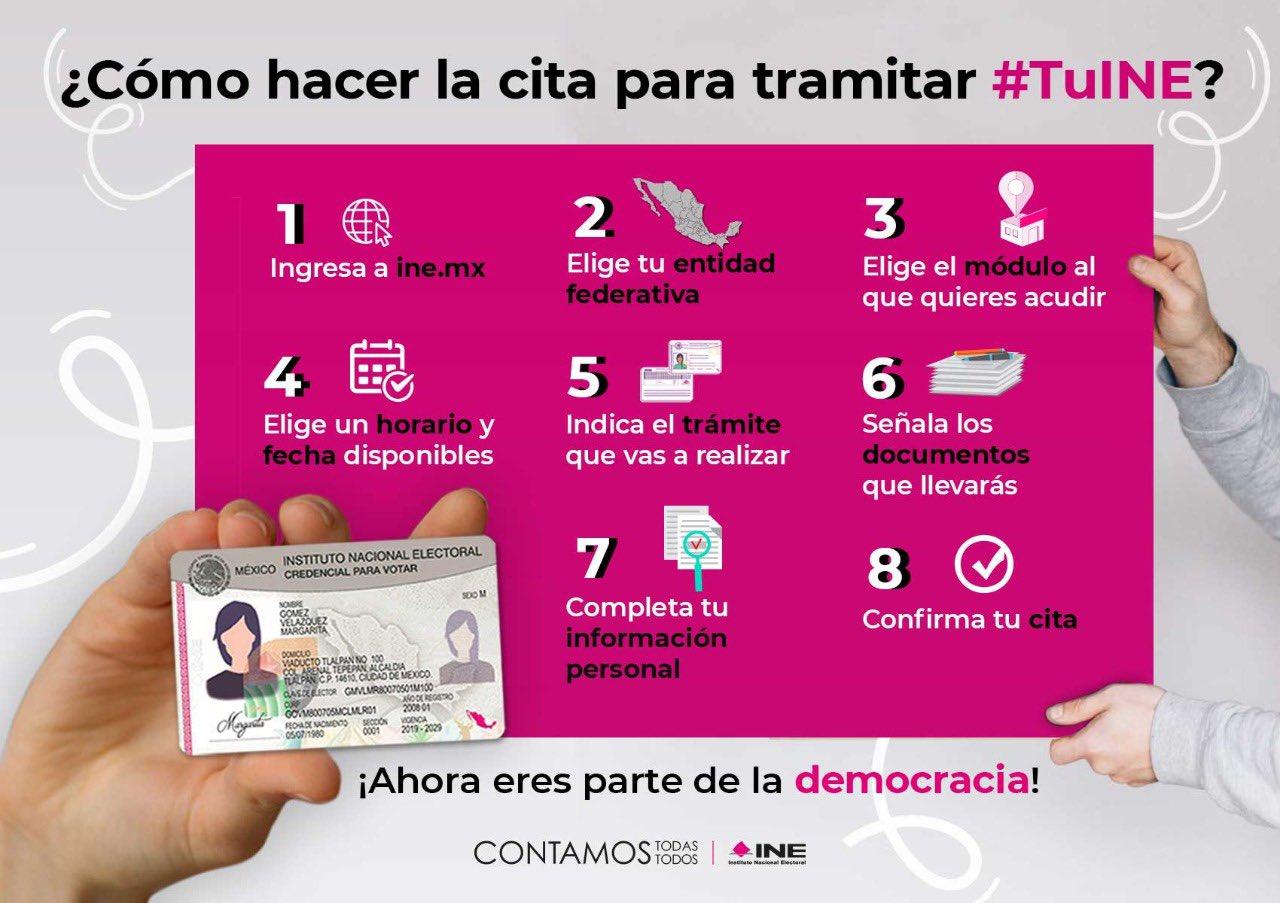 ¿Cómo hacer la cita para tramitar tu credencial INE en Morelos?