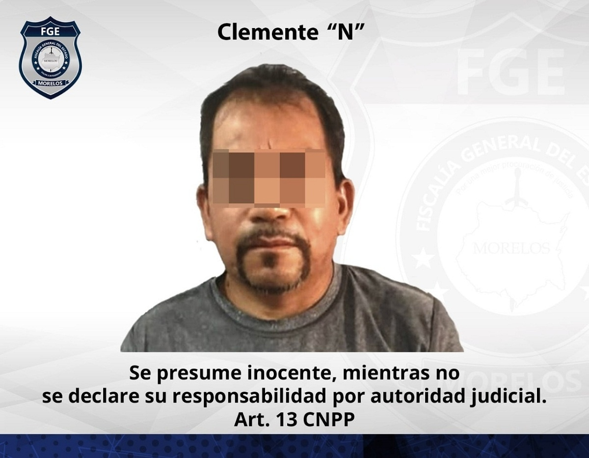 """""""El Pelón"""" en prisión preventiva por agredir sexualmente a una niña de nueve años en el municipio de Tlaquiltenango"""