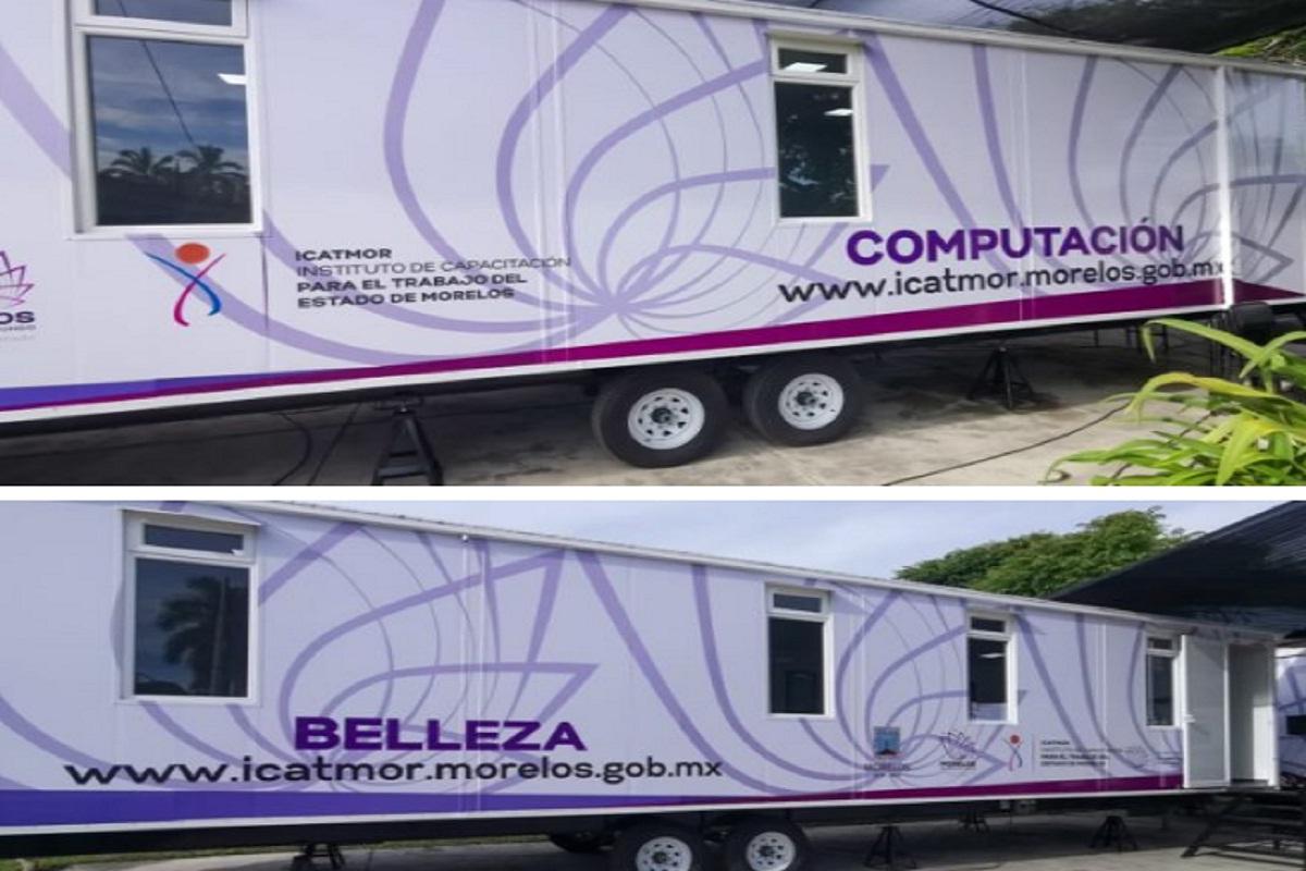 Inauguran aulas móviles del Icatmor en el municipio de Ayala