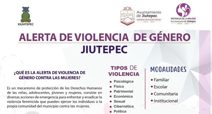 Instancia Municipal de la Mujer de Jiutepec implementa campaña informativa con respecto a la violencia de género