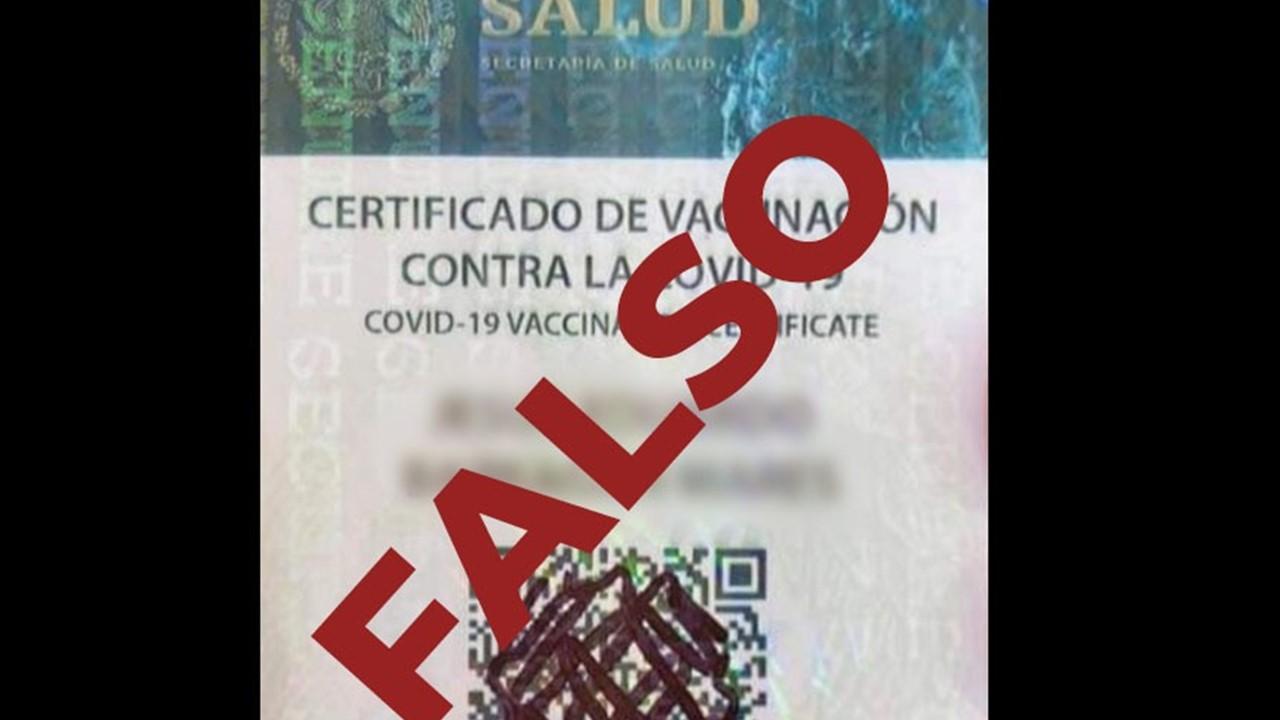 Secretaría de la Salud de México emite alerta por tarjetas de vacunación falsas de Covid-19