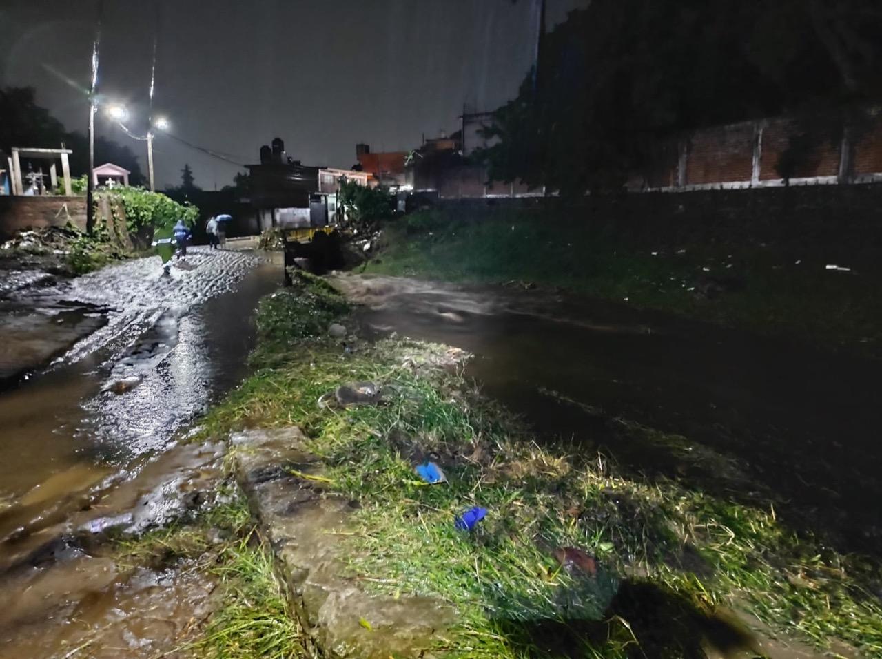 Fuertes lluvias causan desastres en varios municipios de Morelos