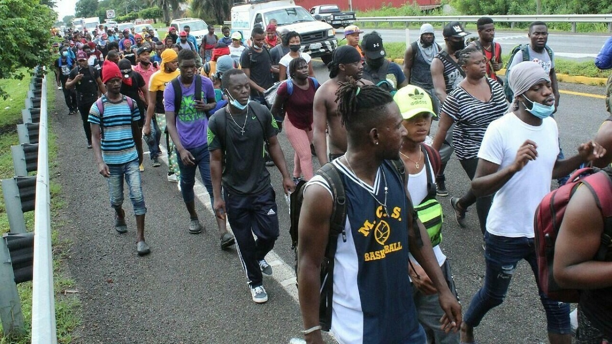 Más de 18 mil ciudadanos haitianos buscan asilo en el territorio mexicano