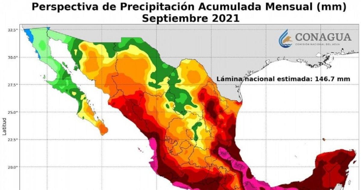 Septiembre será el mes más lluvioso, de acuerdo a Ceagua. Prevén 22 días de lluvias